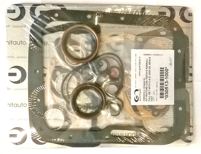 complete engine gasket set Fiat 500 F/L