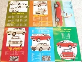 set poster ABARTH (6 pieces)