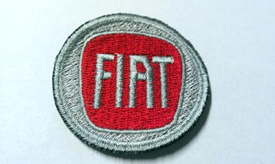 "patch ""FIAT"" red 48 mm"